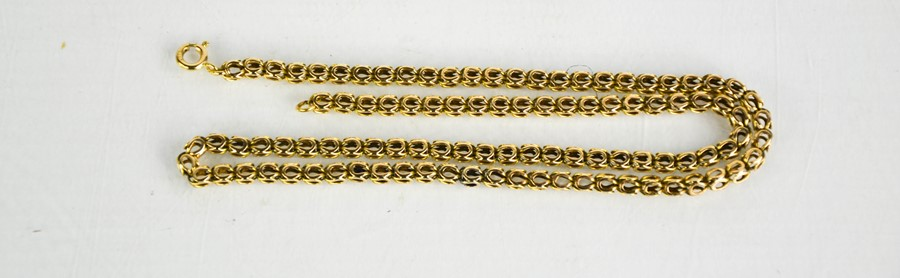 A 9ct gold chain link necklace, 11.55g.