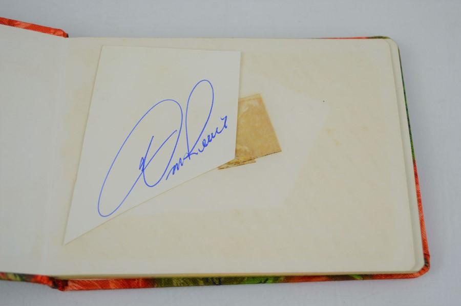 An autograph book containing the signatures Edward Heath, Geoffrey Howe, Joe Bugner, Bobby Charlton, - Image 2 of 5