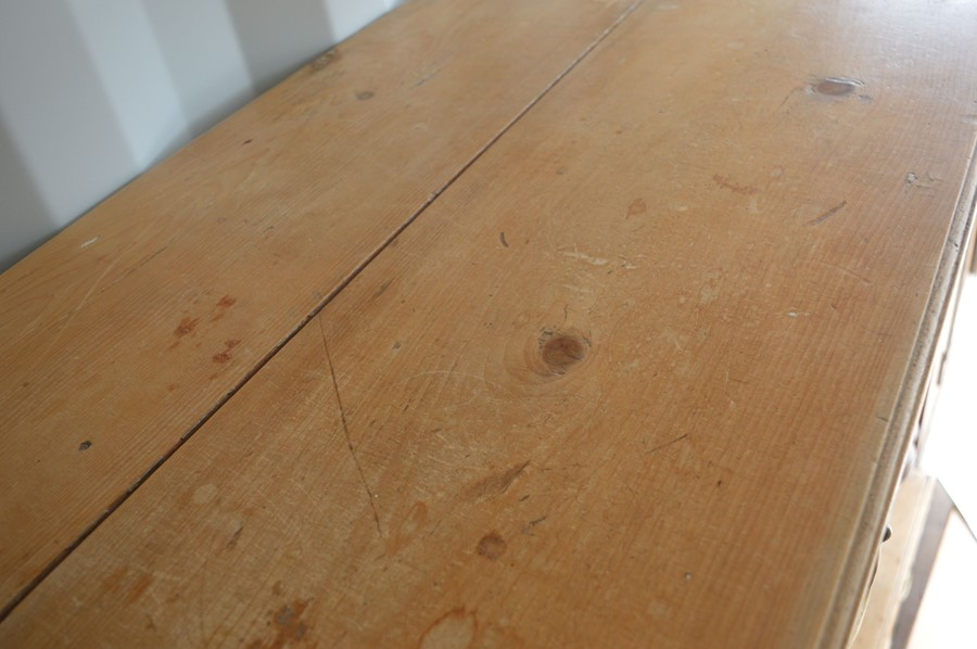 A pine two drawer hall table, 75cm high by 91cm wide by 48cm - Image 2 of 2