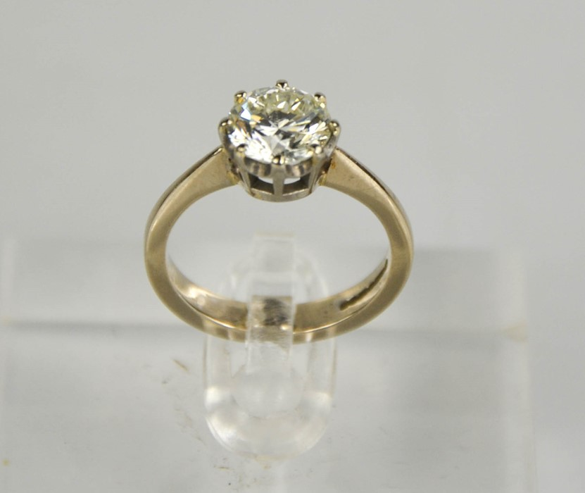 An 18ct white gold diamond solitaire, 1.57ct diamond approximately, size J, colour IJ, SI2, 4.1g. - Image 5 of 5