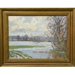 Peter Biegel (20th century): The Flooded Vale, oil on canvas, 30 by 39cm.
