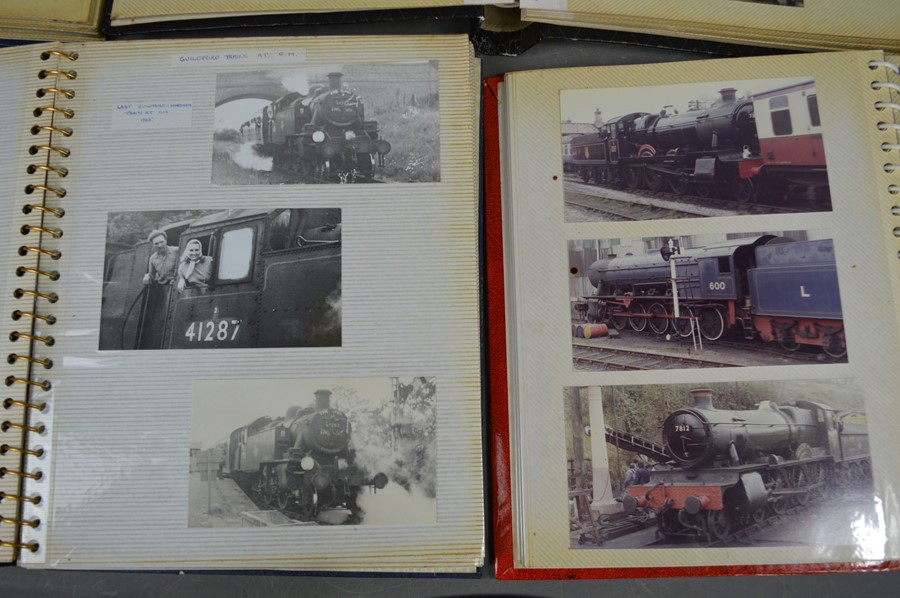 Four vintage photo albums of steam and diesel locomotives - Image 4 of 6
