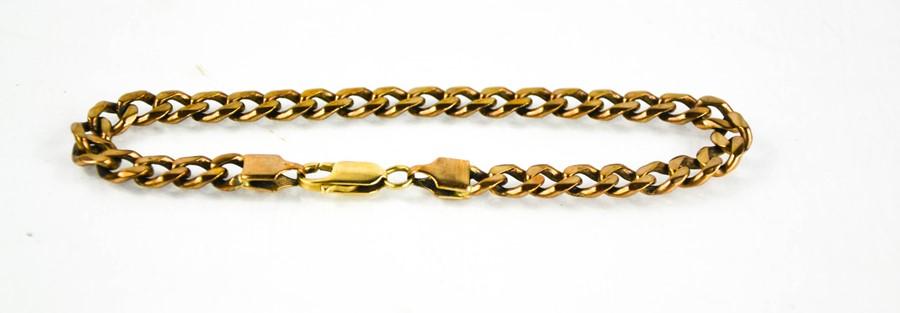 A 9ct gold chain link bracelet, 15.4g.
