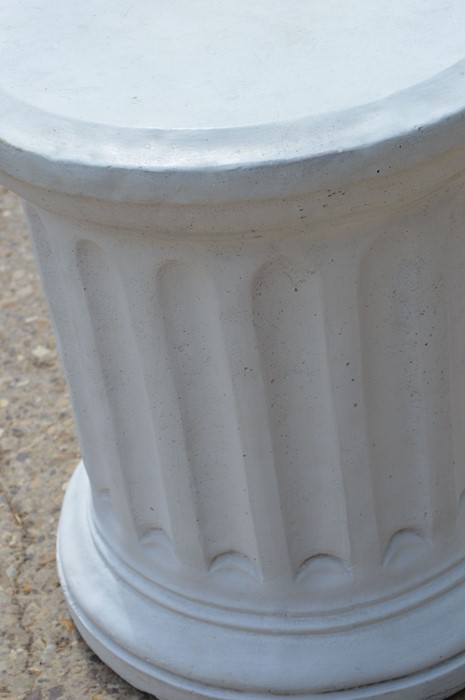 A reconstituted stone Corinthian style pedestal column 56cms tall x 48cms diameter - Image 2 of 2