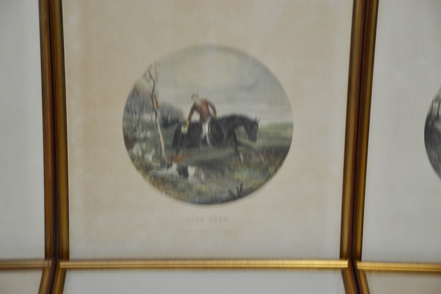 A set of six 19th century prints, hunt scenes in roundels, engraved by G Hester, printed by - Image 2 of 2