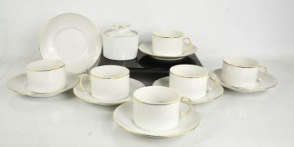 A Thomas of Germany part tea service, comprising cups and saucers and a sugar bowl.