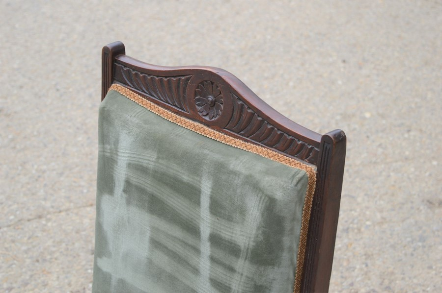 A Victorian nursing upholstered in green upholstery - Image 2 of 2