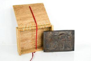 Eduardo Paolozzi (1924-2005) Newton (After Blake) bronze plaque with original presentation box