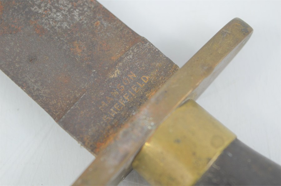 A 19th century spear point Bowie knife by Manson of Sheffield, 31cm - Image 2 of 2