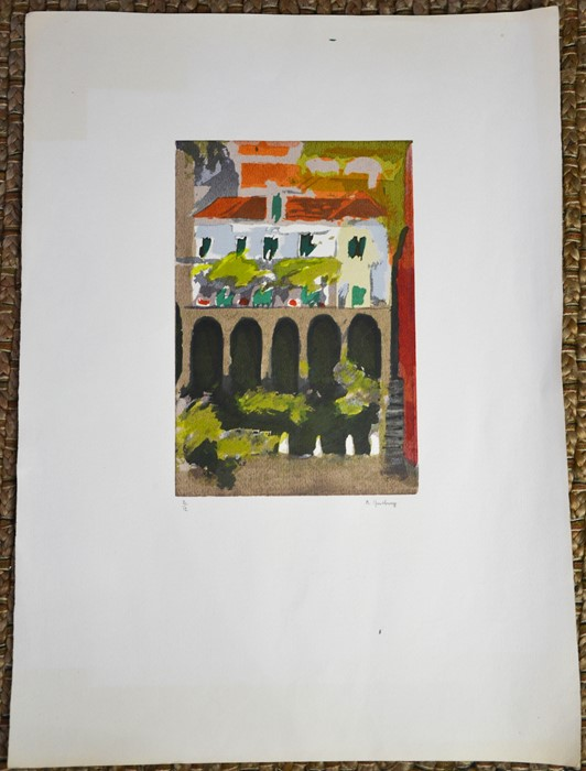 A Ginsbury (20th century): two colour woodblock prints, both limited edition. - Image 2 of 2