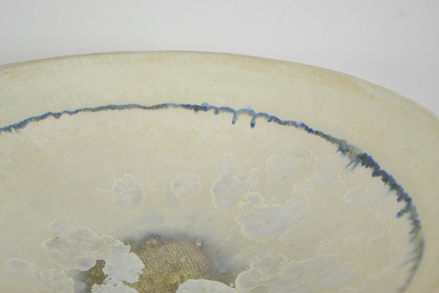 Catriona McLeod (born 1946): a large Studio pottery pedestal bowl, initialled CMc to the base. - Image 2 of 3