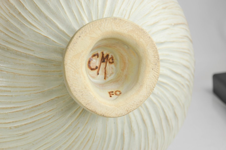 Catriona McLeod (born 1946): a large Studio pottery pedestal bowl, initialled CMc to the base. - Image 3 of 3