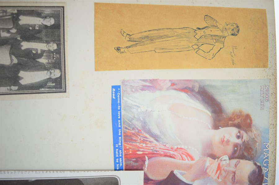 An Edwardian and later scrap book with various cuttings and pictures - Image 5 of 5