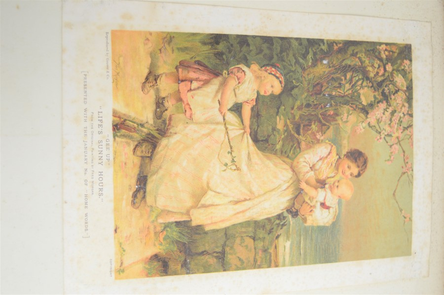 An Edwardian and later scrap book with various cuttings and pictures - Image 2 of 5