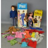 A vintage Patch and Paul, with original boxes and a group of clothing with some Sindy examples.
