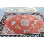 A Middle Eastern rug 187cms x 277cms with a runner 73cms x 280cms