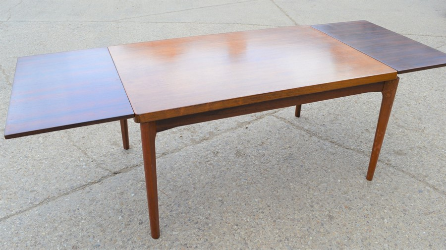 A Mid-Century Vejle Moebelfabrik extending dining table, 240cm by 88cm by 73cm high - Image 5 of 7