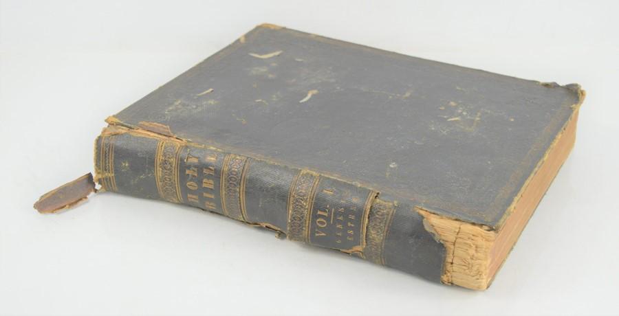 An antique bible.