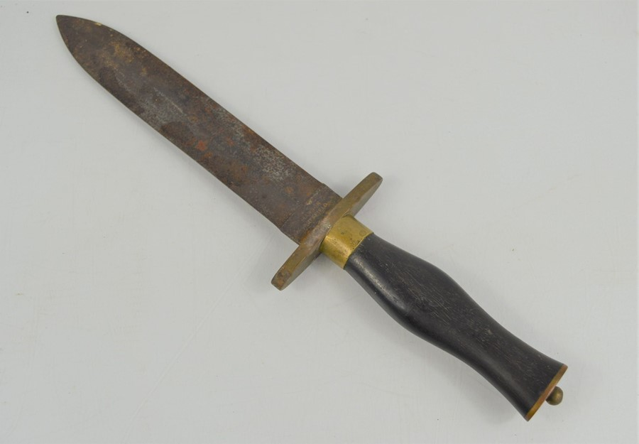 A 19th century spear point Bowie knife by Manson of Sheffield, 31cm
