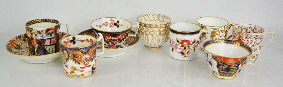 A group of Royal Crown Derby and other 19th century porcelain examples.