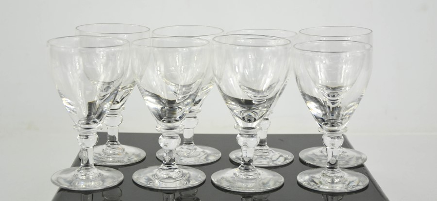 A set of eight 19th century glasses, 9cm high.