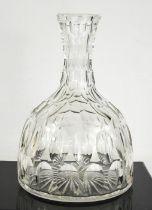 A magnum cut glass carafe circa 1920, 26cm high.