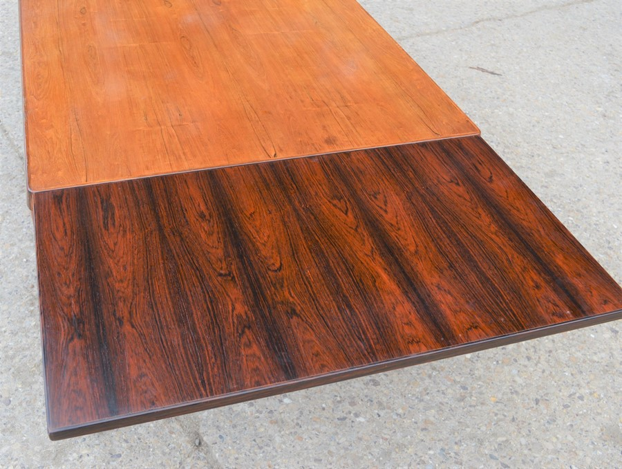 A Mid-Century Vejle Moebelfabrik extending dining table, 240cm by 88cm by 73cm high - Image 6 of 7