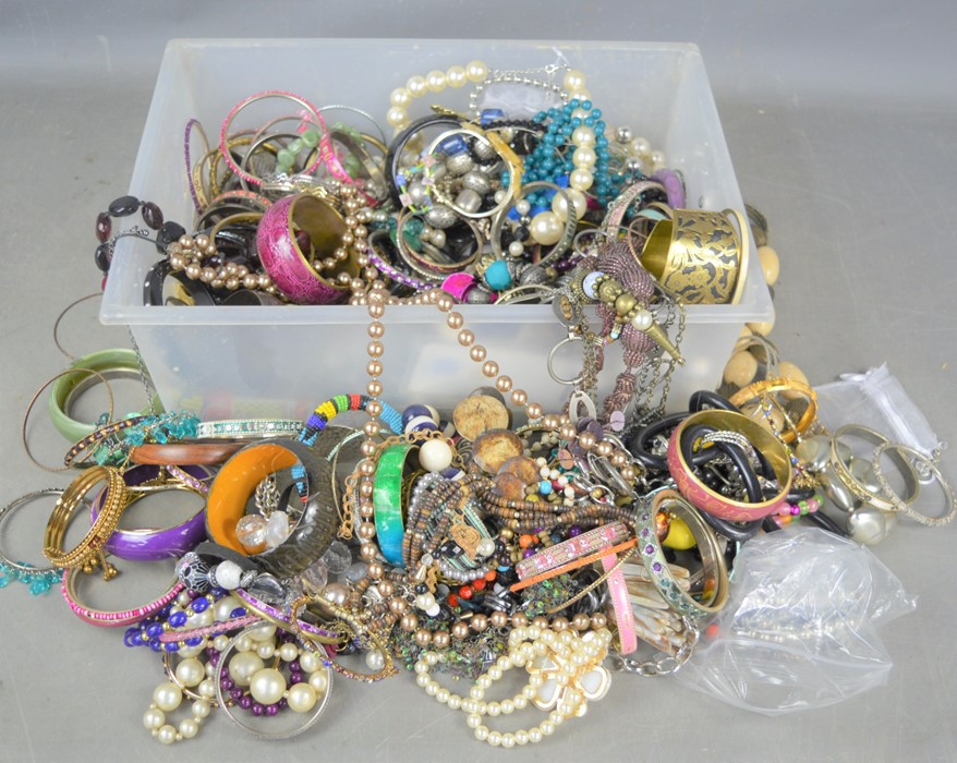 A large quantity of costume jewellery to include bracelets, necklaces etc