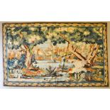 A French verdure tapestry circa 1900, depicting parrot. 197cms x 126cms