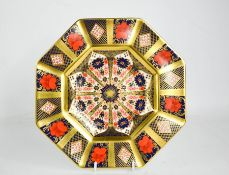 A Royal Crown Derby Imari pattern plate 1128, of octagonal form, 22½cm diameter.