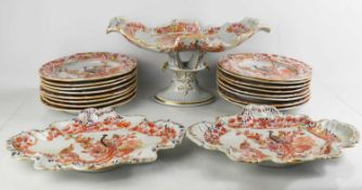 A quantity of Masons Ironstone China dinnerware, to include comport, dishes and plates.