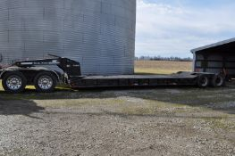 1990 Trail King TK70DGP-432 hyd detach trailer, NEW self contained power unit, 22' well, 43' overall
