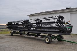 40' MacDon FD75 draper head, flip over reel, dble knife drive, SCH roller knife, John Deere S series