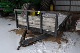 14' bumper pull trailer, tandem axle, single wheel, NO TITLE