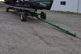 40' Horst CHCF all-wheel steer header cart, 11L-15FI tires, lights, SN 103623
