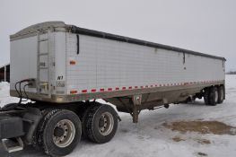 1993 42' Timpte hopper bottom trailer, spring ride, 11R24.5 tires, roll tarp, VIN H42221PB084815