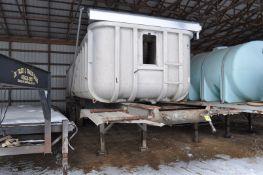 30' Hobbs frame dump trailer, steel frame, alum dump, tri axle, 11R22.5 tires, tarp, coal chute,