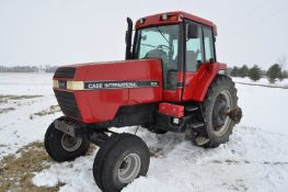 Case IH 7120 tractor, 2WD, power shift, 18.4 R 42 tires, 540/1000 PTO, 3 hyd remotes, 3 pt, shows