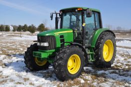 John Deere 6430 tractor, MFWD, C/H/A, 6x4 trans, 460/85R38 rear, 420/85R24 front, front fenders,