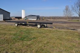 40' J&M 1082 header cart, 235/85R16 tires, lights, folding tongue, SN 4018
