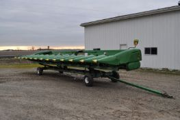 John Deere 612C corn head, height sensors, row sense, knife rolls, (2) NDY stalk stompers, SN