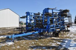 41' DMI Tiger Mate II field cultivator, dble hyd fold, walking tandems, rear hitch, 4 bar spring