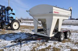 Friesen 240RT seed tender, tandem axle, 2 compartment, rear conveyor, Honda GX160 engine, electric