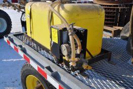 45 gal spot sprayer, poly tank, 12 volt pump