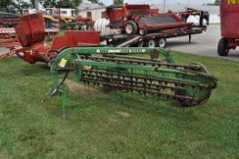 9' John Deere 662 5-bar rake, hyd drive