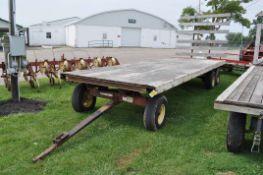 22' Flat rack hay wagon, Minnesota 12 ton walking tandem, 11Lx15 tires