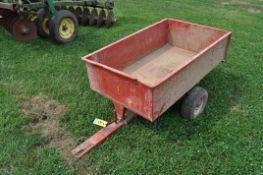 Single axle lawn trailer