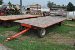 20' x 9' Flat rack wagon, Kory 6872 8 T running gear
