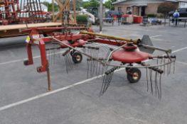 New Idea 4264 2-spool hay tedder / rake combo, 540 pto, 3 pt