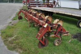 "International 133 row crop cultivator, 6x 30"", 3 pt"